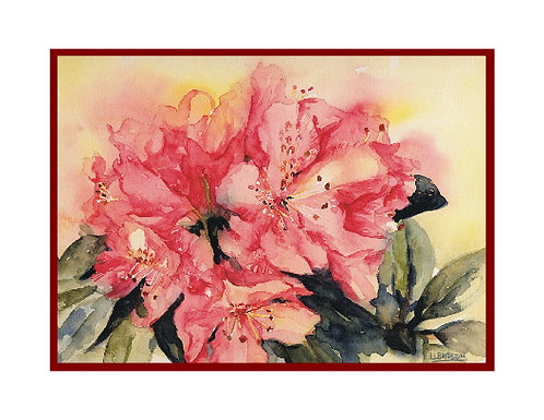 Rhododendrons Watercolor Note Cards