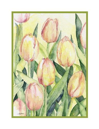 Watercolor Spring Tulip Cards