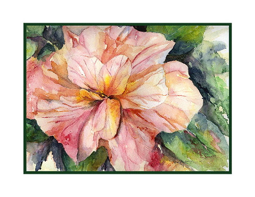 Hibiscus Watercolor Note Cards