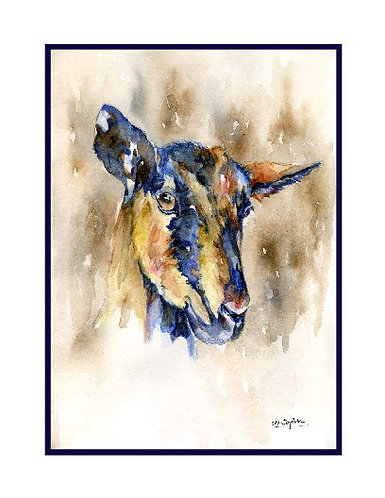 Watercolor Goat Note Cards
