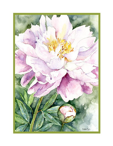 Ephemeral Peony Watercolor Cards