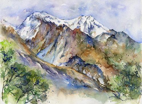 Glenorchy New Zealand Watercolor Original Painting