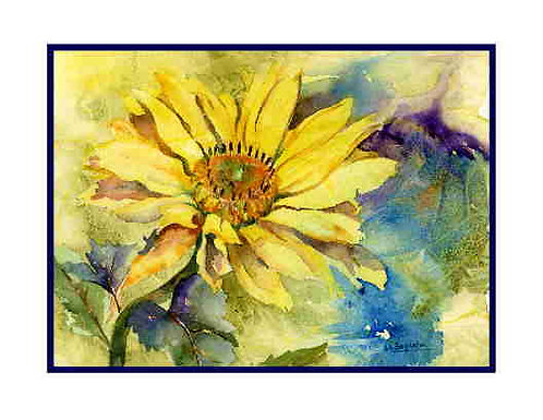 Yellow Oxeye Daisy Watercolor Cards