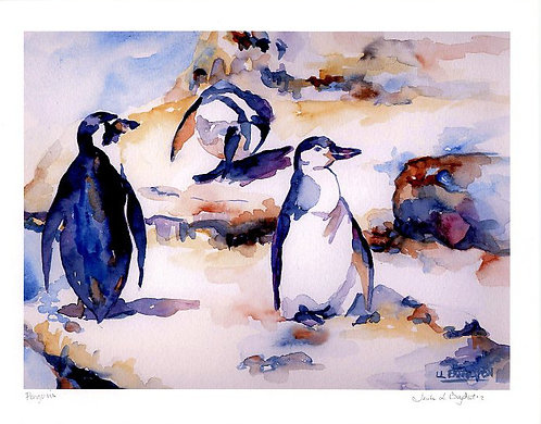 Penguin Watercolor Giclee