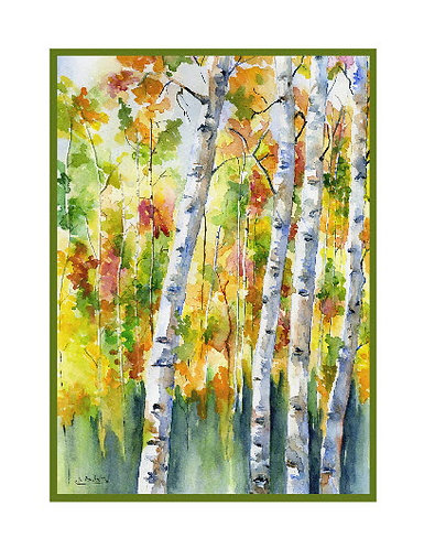 Watercolor Aspen Cards