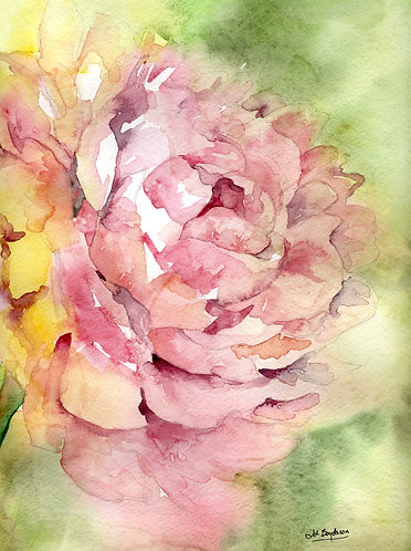 Whisper of a Peony Watercolor Giclee Print