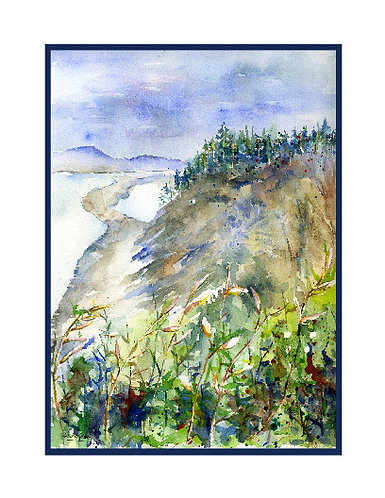 Olympic Peninsula Watercolor Note Cards