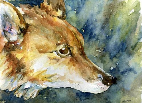 Original Pembroke Corgi Watercolor Painting