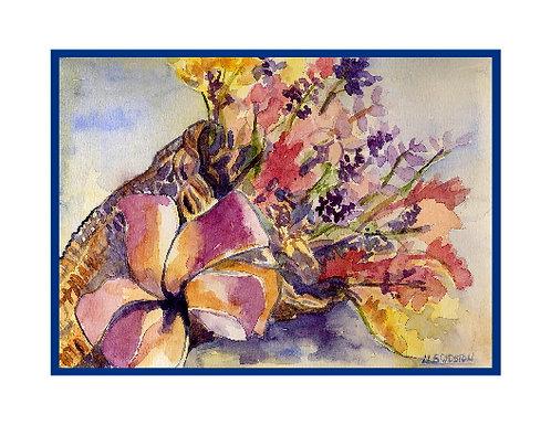 Watercolor Cornucopia Note Cards