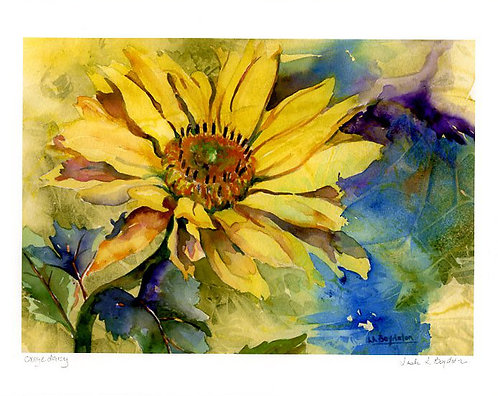 Yellow Daisy Watercolor Giclee