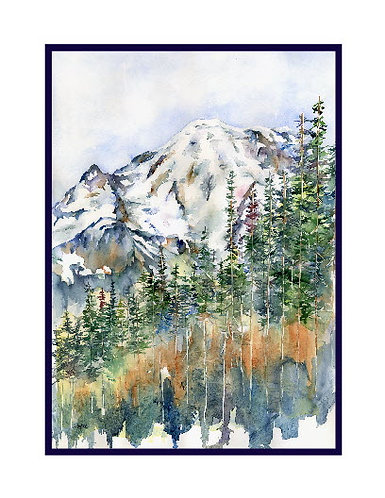 Watercolor On the Way to Sunrise Cards