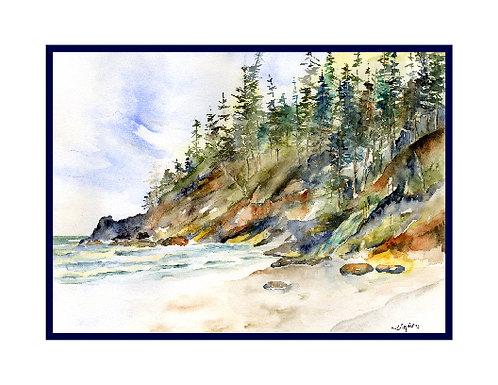 Oregon Coast Watercolor Note Cards