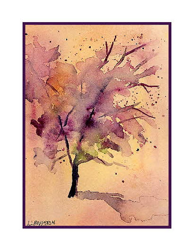 Watercolor Forsaken Tree Note Cards