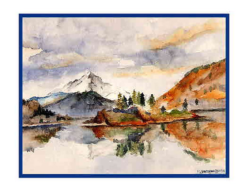 Mt. Hood Watercolor Note Cards