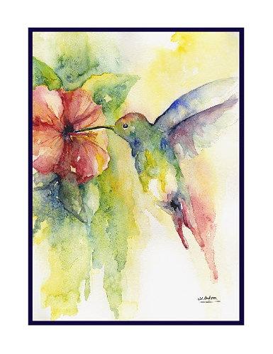 Hummingbird Watercolor Note Cards