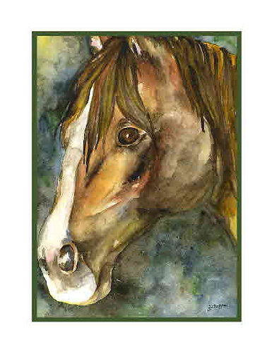 Quarter Horse Watercolor Note Cards