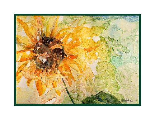 Sunflower Watercolor Note Cards