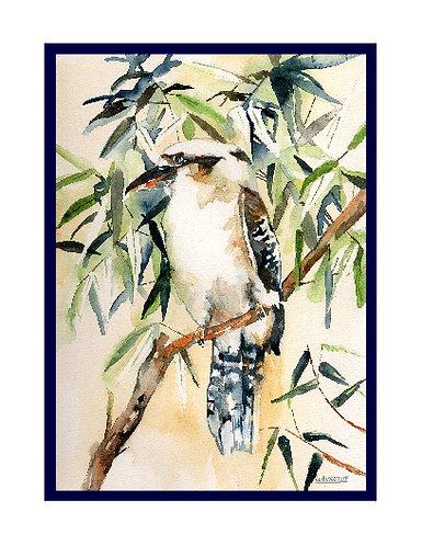 Kookaburra Watercolor Note Cards