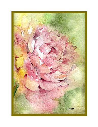 Watercolor Whisper of a Peony Note Cards