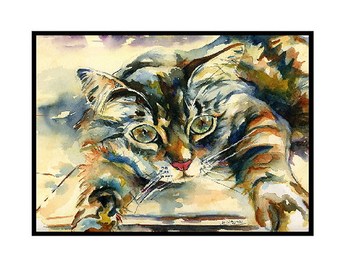 Watercolor My Sweet Cat Note Cards