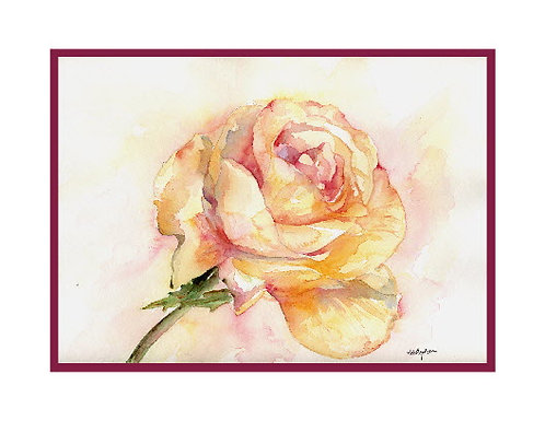 Bloomin' Rose Watercolor Cards