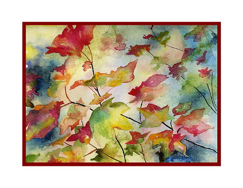 Watercolor Changing Leaves Note Cards