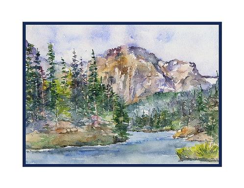 Watercolor Colorado Rockies Cards