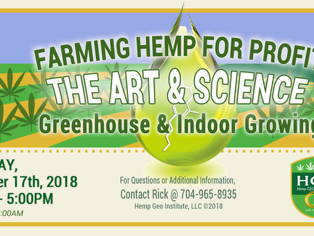 Hemp Geo Institute's Eight (8th) Educational Symposium to be held in Greensboro, North Carolina