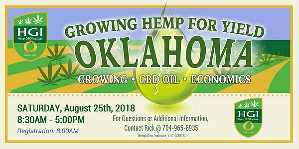 Growing Hemp for Yield, Oklahoma, August 25 2018
