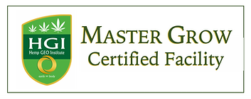 Hemp Geo Institute, LLC., Master Grow Certified Facility Plaque
