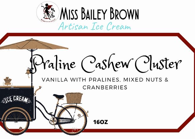 Artisan ice cream Praline Cashew Cluster