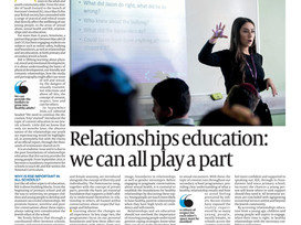 Relationships Education: we can all play a part
