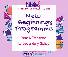 Transition Flyer New Beginnings title on