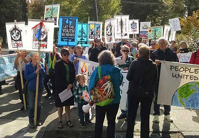 2019Sept28 climate march Corvallis