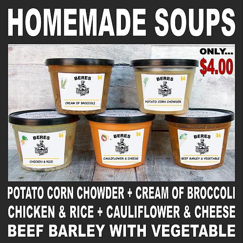 NEW! Homemade SOUPS!