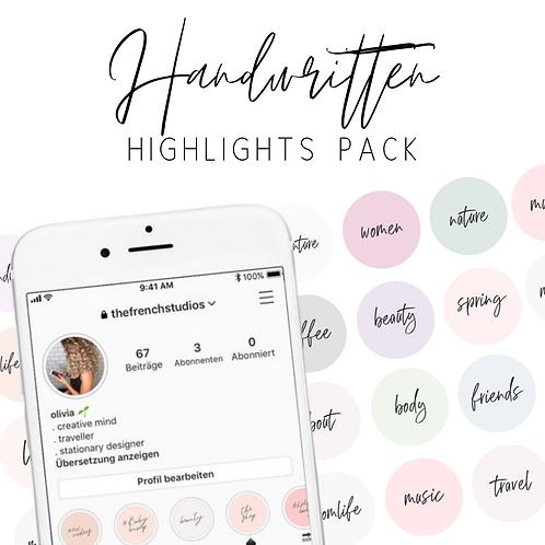 Handwritten Instagram Highlights - 120 Instagram Text