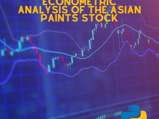 Econometric analysis of the Asian Paints stock in the National stock exchange