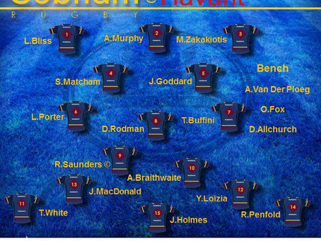 1st XV Squad selection - 18 January 2020