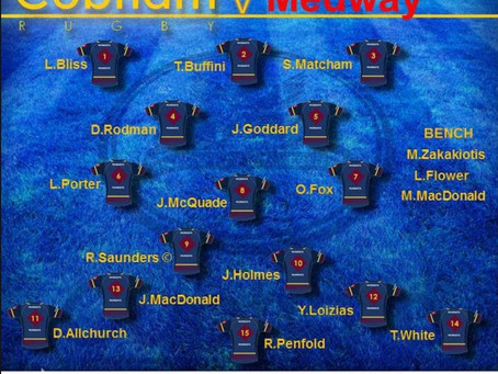 1st XV Squad selection - 7 December 2019