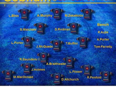 1st XV Squad selection - 1 February 2020