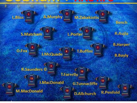 1st XV Squad selection - 29 February 2020
