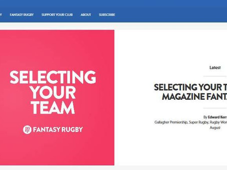 Play Fantasy Rugby - and Support Your Club
