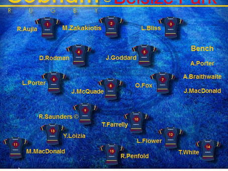 1st XV Squad selection - 4 January 2020