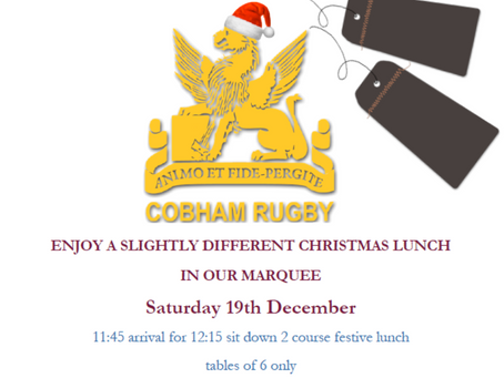 Christmas Lunch @ CRFC - 19 December