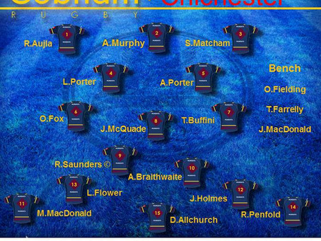 1st XV Squad selection - 15 February 2020