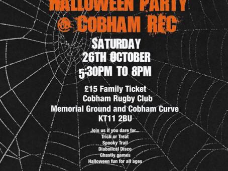 A Spooktacular evening @ Cobham RFC this Saturday