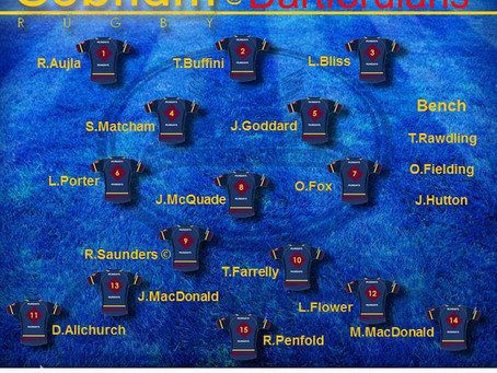 1st XV Squad selection - 14 December 2019
