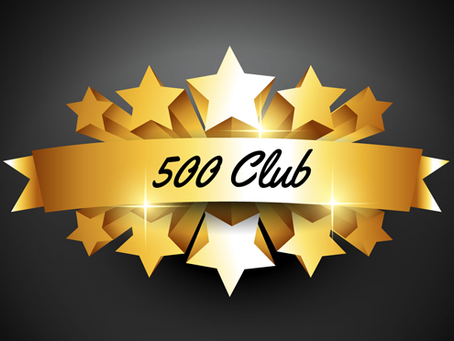 500 Club - September 2020 winners