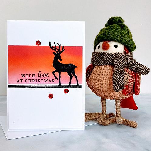 Reindeer Silhouette Card