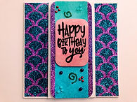 Handmade mermaid birthday card